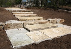 Door County WE Steps and Cut Flagstone