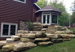 Limestone Boulders with Door County Weathered Edge Steps