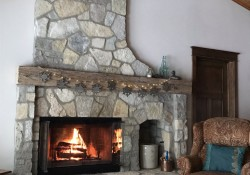 Stone Harbor BF Mosaic fireplace